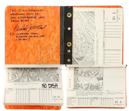 Lot #717 - STAR WARS: RETURN OF THE JEDI (1983) - Michael McAlister's Visual Effects Mini Storyboard Book