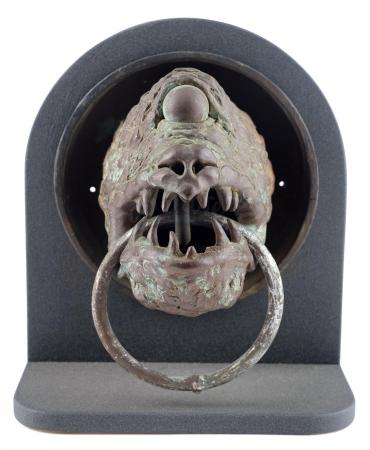 Lot #728 - STAR WARS: RETURN OF THE JEDI (1983) - Phil Tippett Collection: Jabba the Hutt's Throne Slab Gargoyle