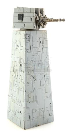 Lot #730 - STAR WARS: RETURN OF THE JEDI (1983) - Large-Size Death Star II Tower and Turret Model