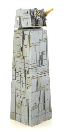 Lot #731 - STAR WARS: RETURN OF THE JEDI (1983) - Small-Scale Death Star II Tower and Turret Model