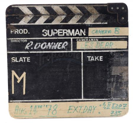 Lot #777 - SUPERMAN (1978) - Production-Used Clapperboard
