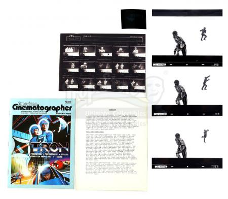Lot #826 - TRON (1982) - Set of 29 Kodaliths and Behind-the-Scenes VFX Materials