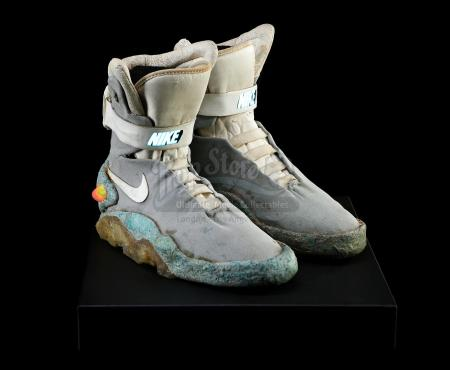 BACK TO THE FUTURE PART II (1989) - Marty McFly's (Michael J. Fox) Light-Up 2015 Nike Shoes