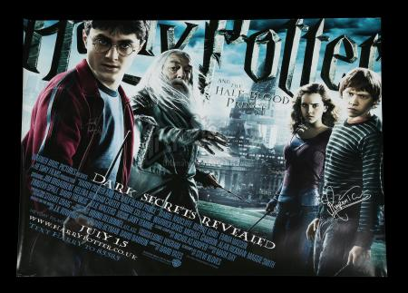 HARRY POTTER AND THE HALF-BLOOD PRINCE (2009) - Main Cast Autographed Poster