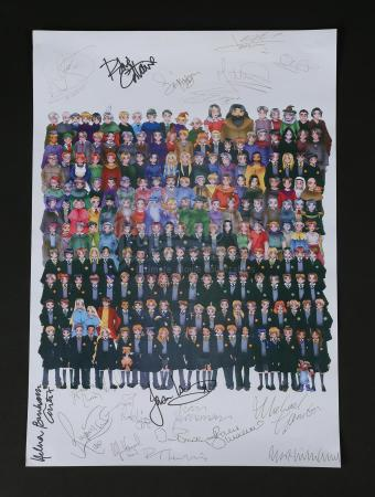 HARRY POTTER AND THE DEATHLY HALLOWS: PART 1 (2010) - Autographed Crew Gift Poster