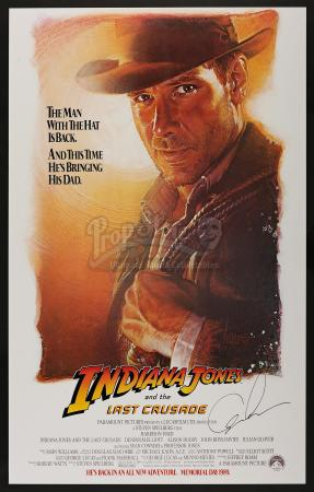 INDIANA JONES AND THE LAST CRUSADE (1989) - George Lucas-Autographed Advance One Sheet