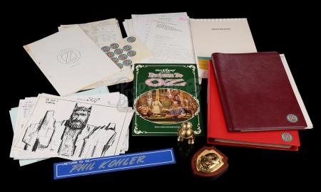 RETURN TO OZ (1985) - Tik-Tok Crew Gift and Production Paperwork