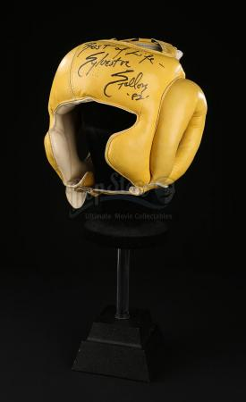 ROCKY III (1982) - Rocky's (Sylvester Stallone) Autographed Headgear