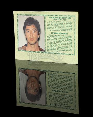 SCARFACE (1983) - Tony Montana's (Al Pacino) Green Card
