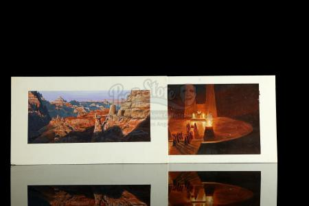 STAR TREK III: THE SEARCH FOR SPOCK (1984) - Chris Evans Hand-Painted Matte Concept Paintings – Vulcan Temple