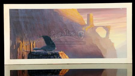 STAR TREK IV: THE VOYAGE HOME (1986) - Chris Evans Hand-Painted Matte Study – Bird of Prey Departure