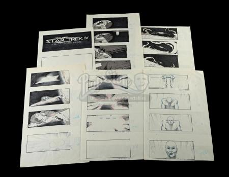 STAR TREK IV: THE VOYAGE HOME (1986) - Nilo Rodis-Jamero Hand-Drawn Storyboards - Alien Probe Sequence