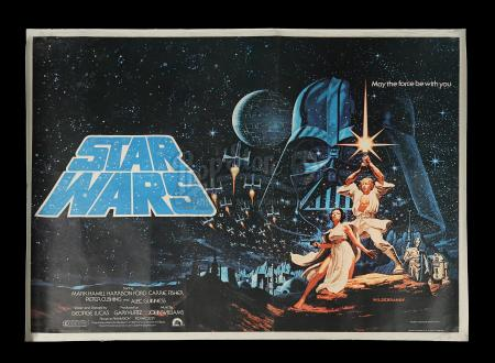 STAR WARS: A NEW HOPE (1977) - Hildebrandt UK Quad Poster