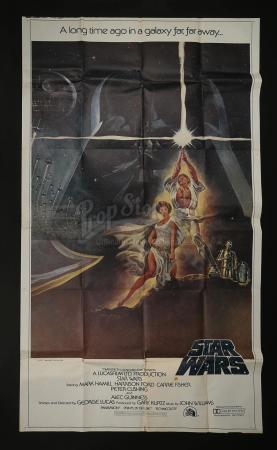 STAR WARS: A NEW HOPE (1977) - Three Sheet Poster
