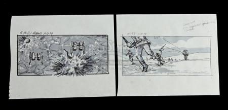 STAR WARS: THE EMPIRE STRIKES BACK (1980) - Hand-Drawn Storyboards — M158 and A40