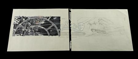 STAR WARS: RETURN OF THE JEDI (1983) - Hand-Drawn Storyboards – SB 76 (1) and SB 81