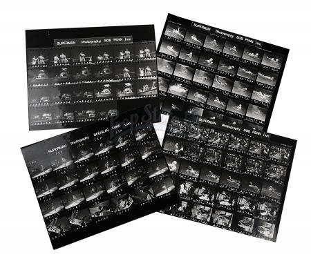 SUPERMAN (1978) - Lex Luthor (Gene Hackman) and Superman (Christopher Reeve) Contact Sheets