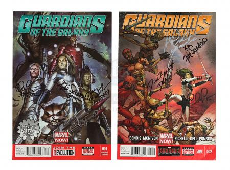 Lot #313 - GUARDIANS OF THE GALAXY (2014) - Cast-autographed Comics