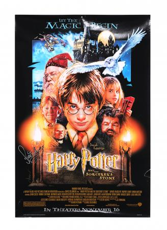 Lot #314 - HARRY POTTER AND THE PHILOSOPHER'S STONE (2001) - Daniel Radliffe and Rupert Grint Autographed Poster