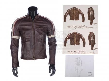 Lot #878 - WAR OF THE WORLDS (2005) - Prototype Belstaff Crew Jacket and Hand-painted Costume Designs