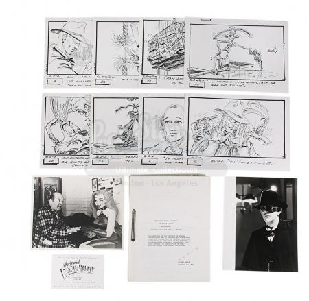 Lot #886 - WHO FRAMED ROGER RABBIT (1988) - Fourth-draft Script, Storyboards, Film Stills and Screening Ticket