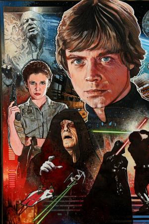 New Art Print 1983 Promo Poster for Star Wars VI Return of the Jedi