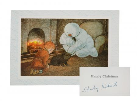 Lot #874 - VARIOUS PRODUCTIONS - Stanley Kubrick Signed Snowman Card