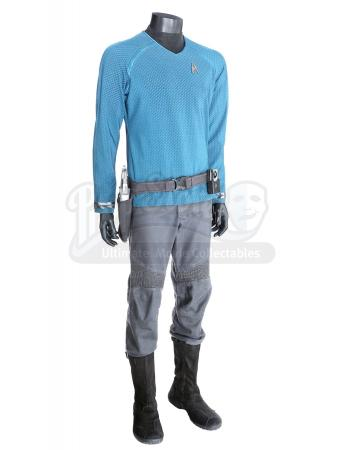 STAR TREK INTO DARKNESS (2013) - Mr. Spock's Enterprise Sciences Uniform with Starfleet Phaser, Holster Belt and Communicator