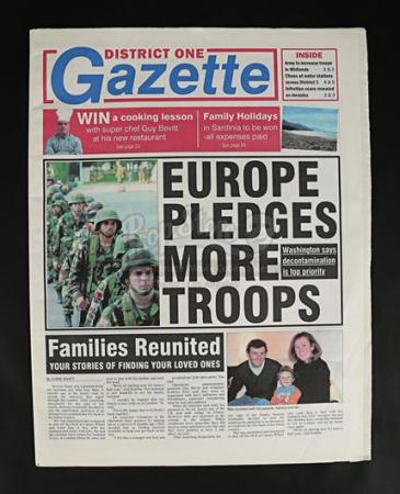 "28 WEEKS LATER (2007) - ""District One Gazette"" Newspaper"
