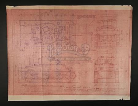 A BRIDGE TOO FAR (1977) - Sherman Tank Blueprint