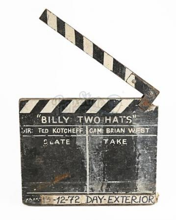 BILLY TWO HATS (1974) - Production-Used Clapperboard