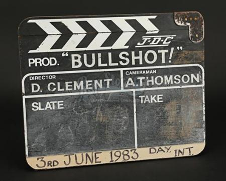 BULLSHOT CRUMMOND (1983) - Production-Used Clapperboard