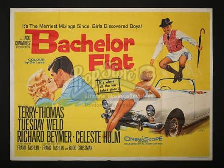 BACHELOR FLAT (1961) - UK Quad Poster (1961)