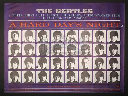 A HARD DAY'S NIGHT (1964) - UK Quad Poster (1964)