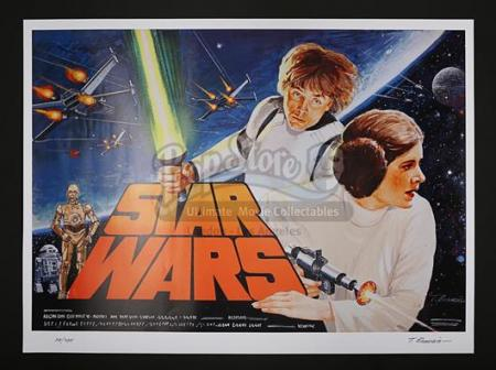 STAR WARS: A NEW HOPE (1977) - UK Prototype Artwork Poster (2017)