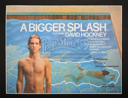 A BIGGER SPLASH (1973) - UK Quad Poster (1973)