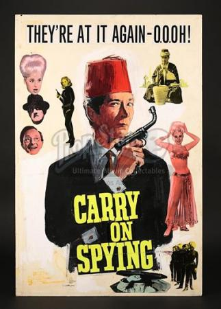 CARRY ON SPYING (1964) - UK 1-Sheet Poster Artwork (1964)