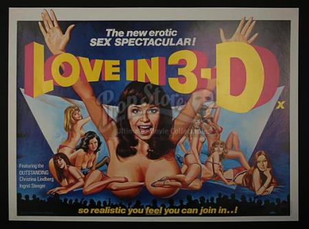 LOVE IN 3-D (1973) - UK Quad Poster (1973)