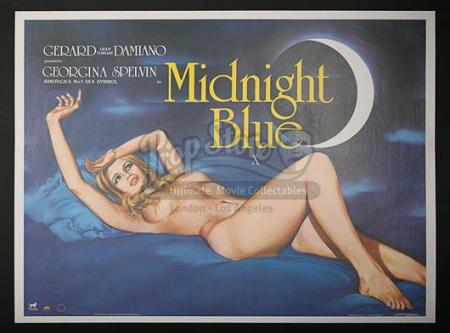 MIDNIGHT BLUE (1982) - UK Quad Poster (1982)