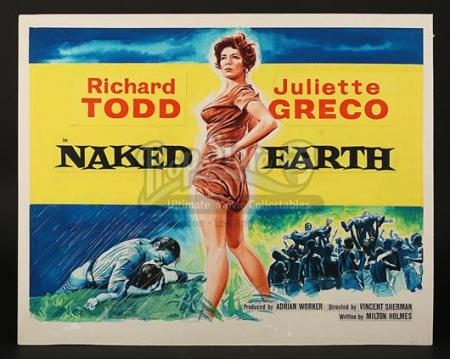 NAKED EARTH (1958) - UK Quad Poster Artwork (1958)