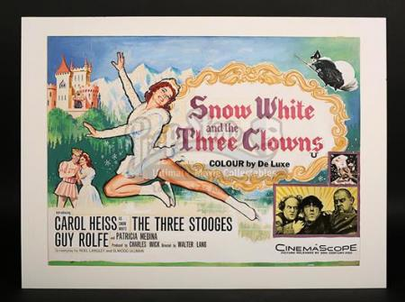 "SNOW WHITE & THE THREE CLOWNS (AKA. ""SNOW WHITE AND THE THREE STOOGES"" (1961) - UK Quad Poster Artwork (1961)"