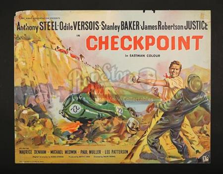 CHECKPOINT (1956) - UK 1/2-Sheet Poster (1956)