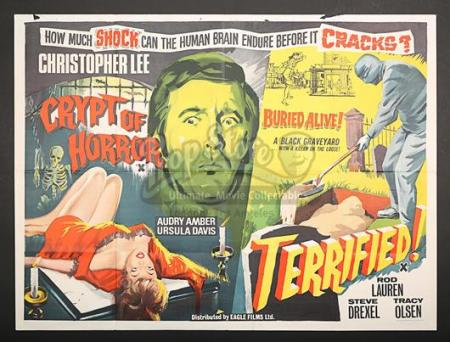 CRYPT OF HORROR (1964) / TERRIFIED (1963) - UK Quad Poster (1964)