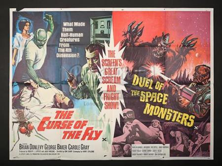 THE CURSE OF THE FLY (1965) / DUEL OF THE SPACE MONSTERS (1965) - UK Quad Poster (1965)