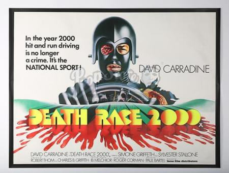 DEATH RACE 2000 (1975) - UK Quad Poster (1975)