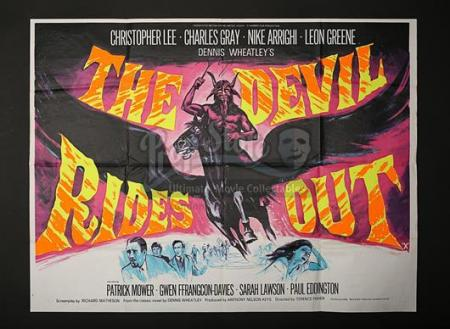 THE DEVIL RIDES OUT (1968) - UK Quad Poster (1968)