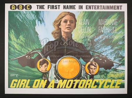 GIRL ON A MOTORCYCLE (1968) - UK Quad Poster (1968)