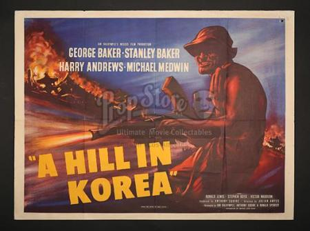 A HILL IN KOREA (1956) - UK Quad Poster (1956)