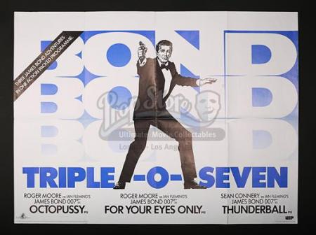 JAMES BOND - Triple-O-Seven James Bond UK Quad Poster (1983)