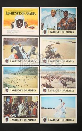 LAWRENCE OF ARABIA (1962) - Eight US Lobby Cards (1962)